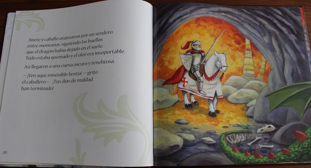 El dragón, la princesa, san Jorge y la rosa_Beispielseite2-Buchbesprechnung Bibliomagia